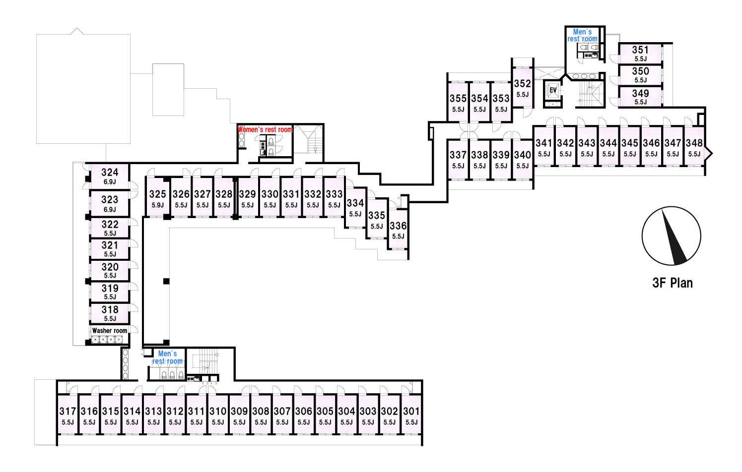 guesthouse sharehouse Social residence 히가시코가네이 floorplan3