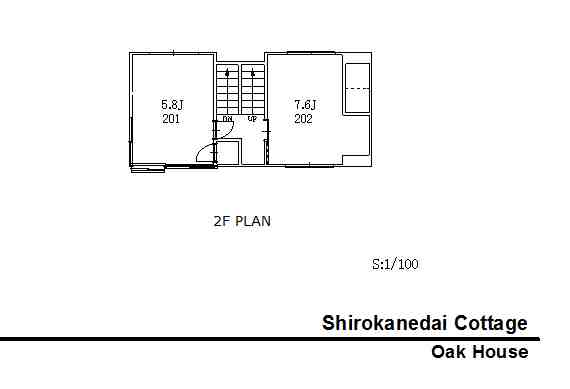 guesthouse sharehouse 白金台コテージ floorplan2