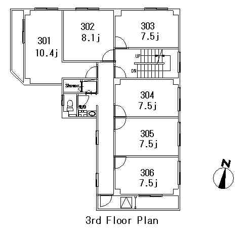 guesthouse sharehouse FLORA GARDEN AZABU floorplan3