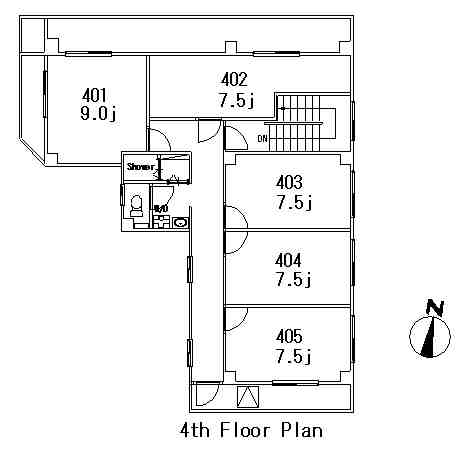 guesthouse sharehouse フローラガーデン麻布 floorplan4