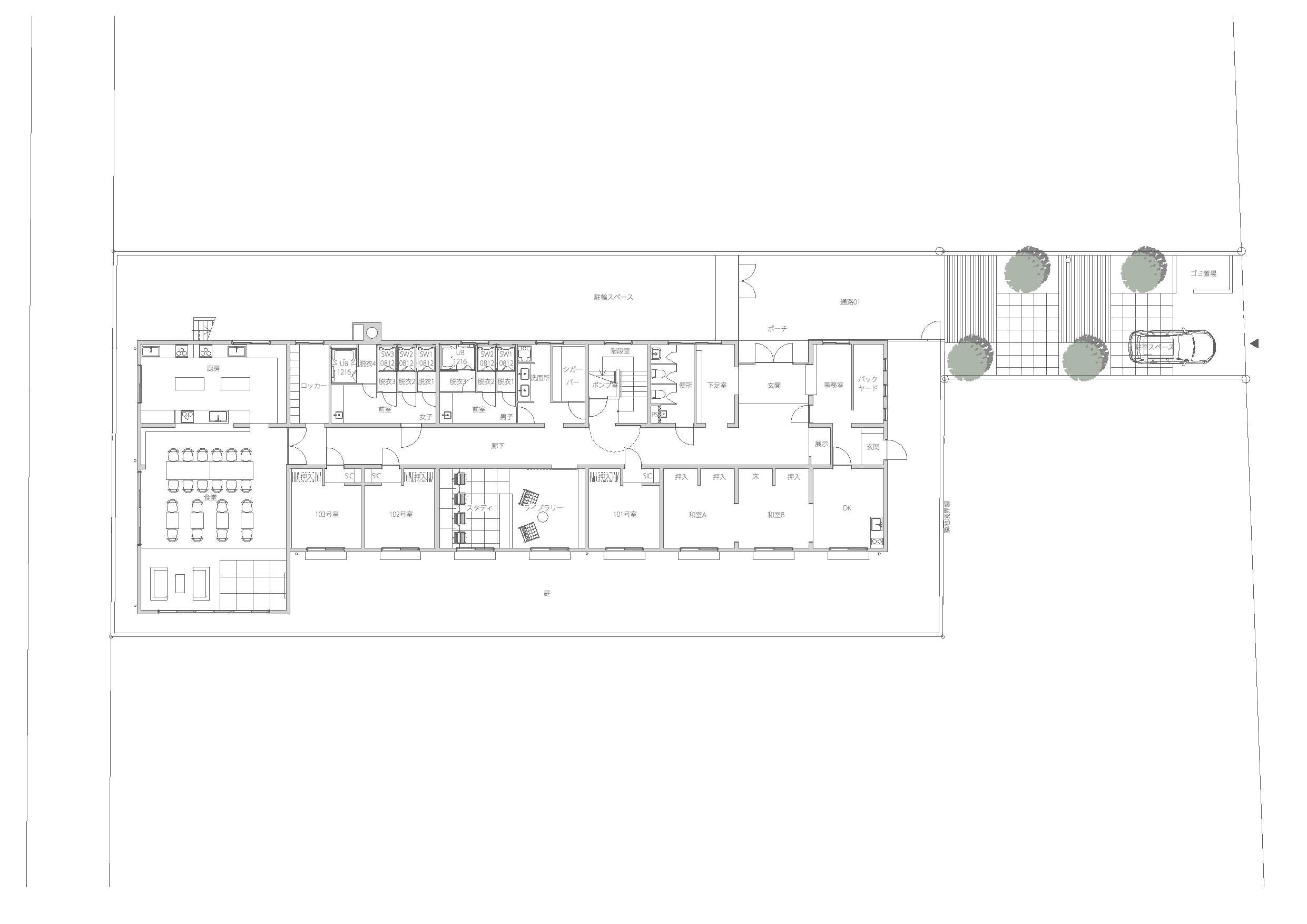 guesthouse sharehouse Social residence 후나바시 floorplan1