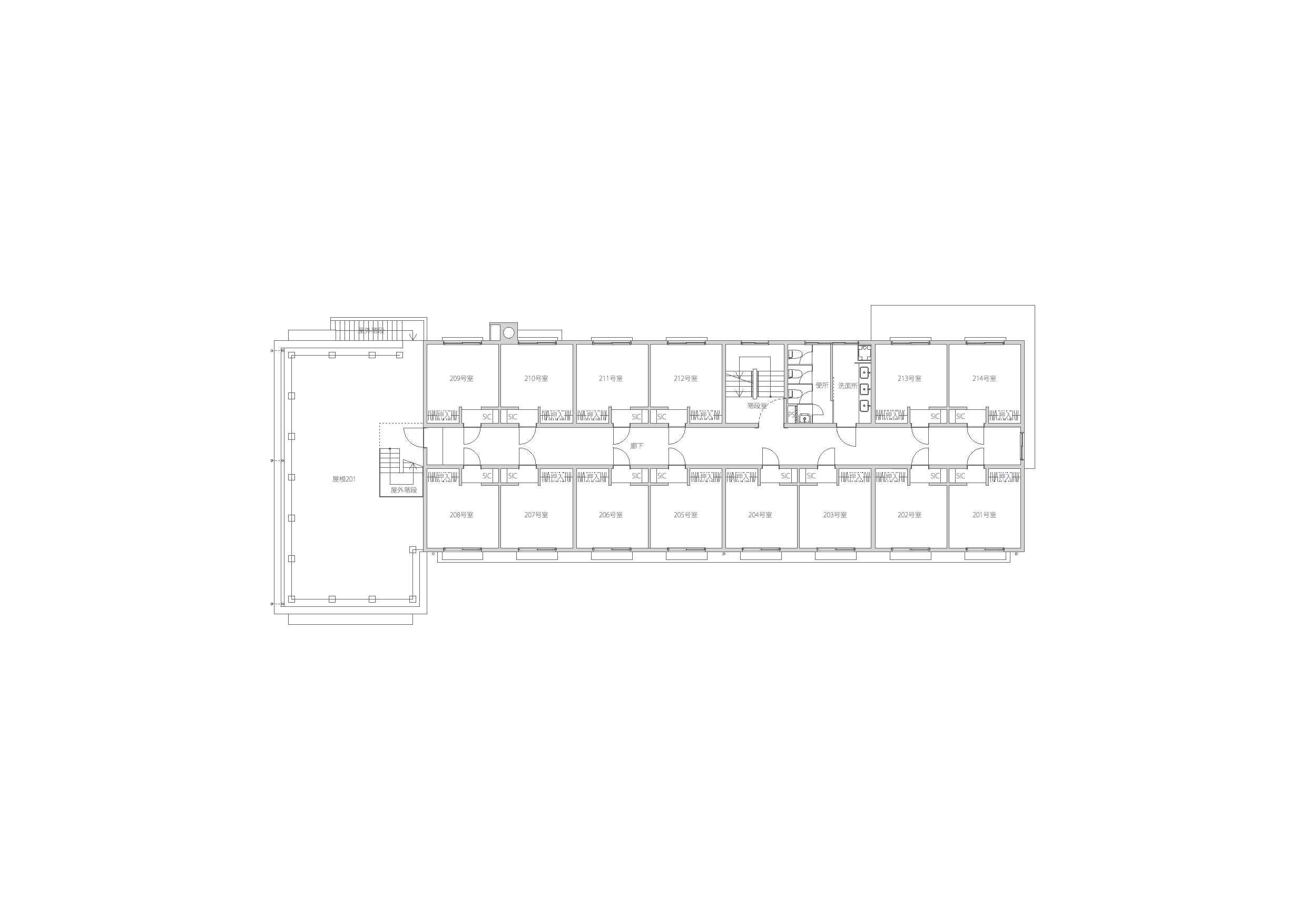 guesthouse sharehouse Social residence 후나바시 floorplan2