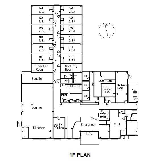 guesthouse sharehouse ソーシャルレジデンス南流山 floorplan1