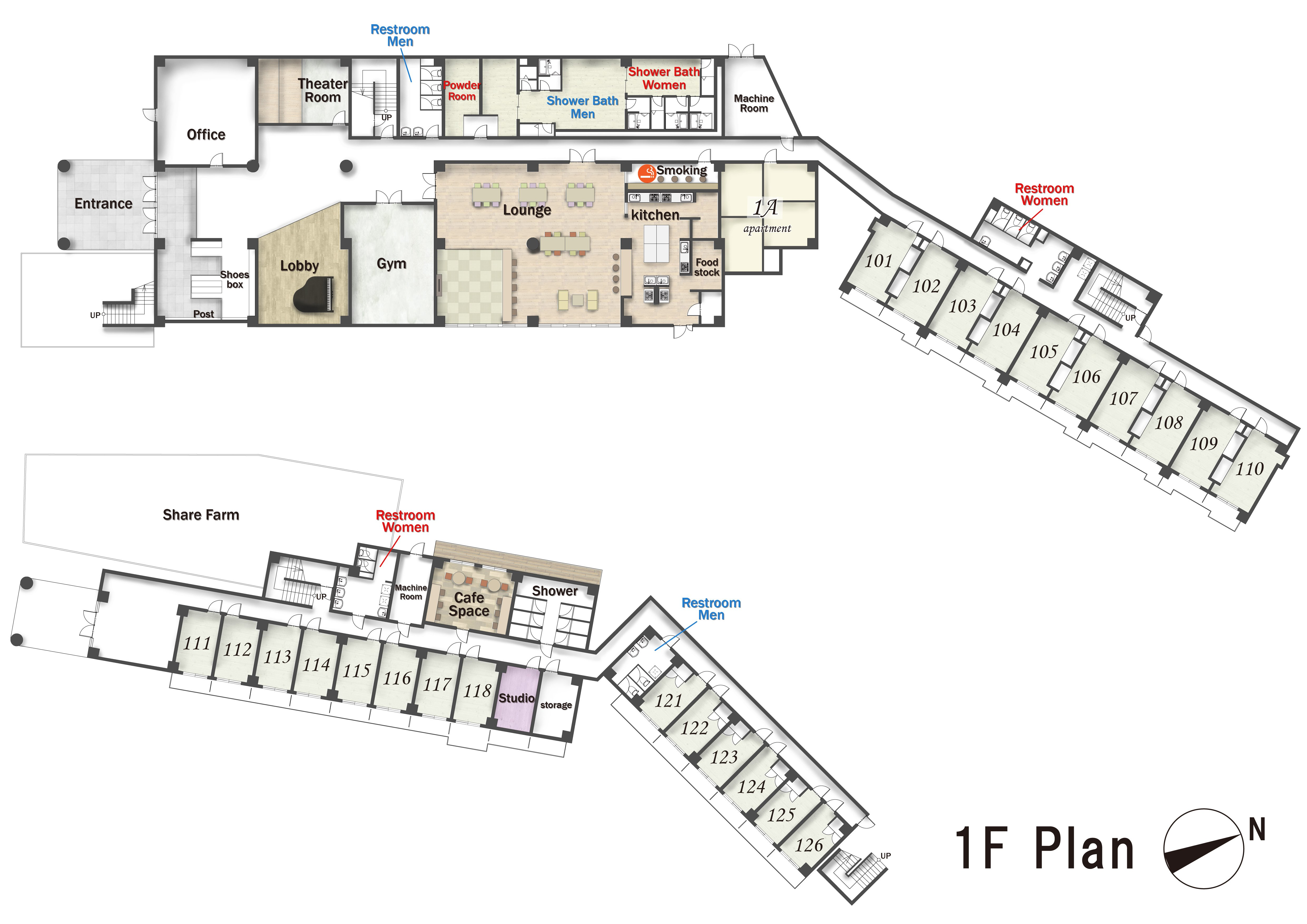 guesthouse sharehouse SOCIAL RESIDENCE HAIJIMA floorplan1