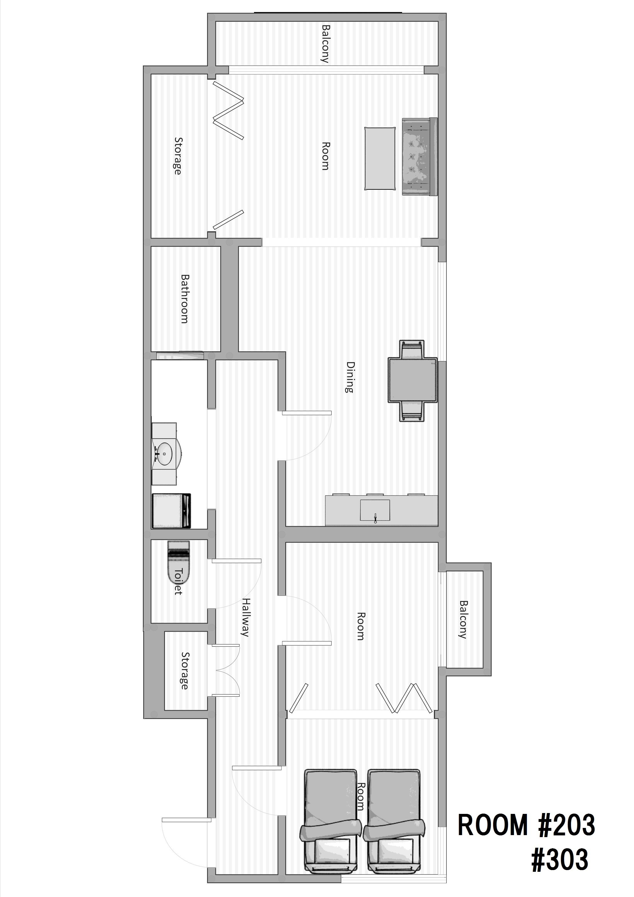 guesthouse sharehouse NOZAKI BUILDING 85(Kodaira) floorplan3