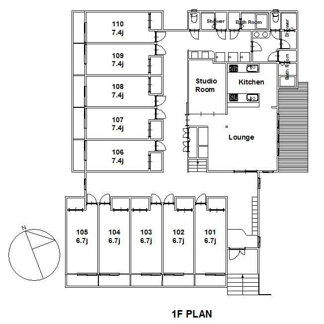 guesthouse sharehouse 梶谷・陽台 floorplan1