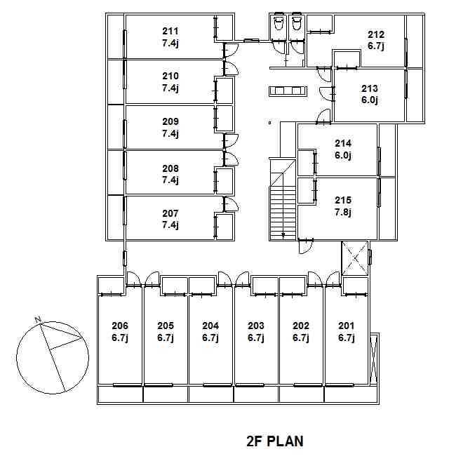 guesthouse sharehouse 梶谷・陽台 floorplan2