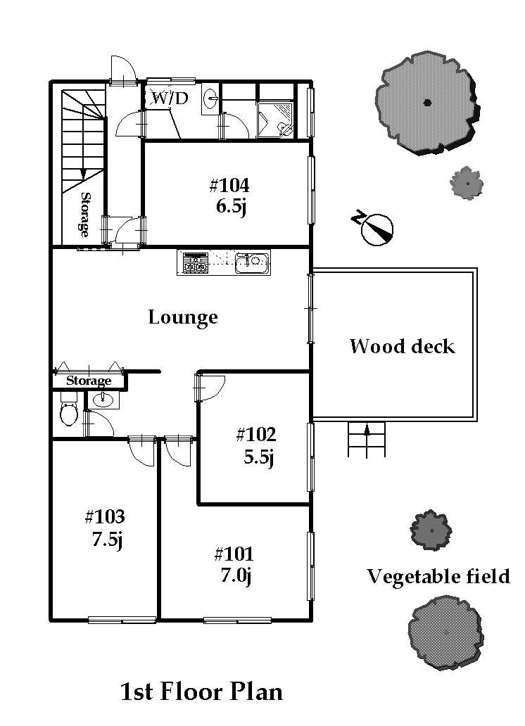 guesthouse sharehouse オークハウス読売ランド floorplan1