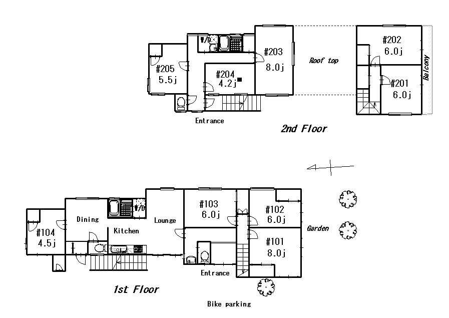 guesthouse sharehouse MIROLETTA HIYOSHI floorplan1