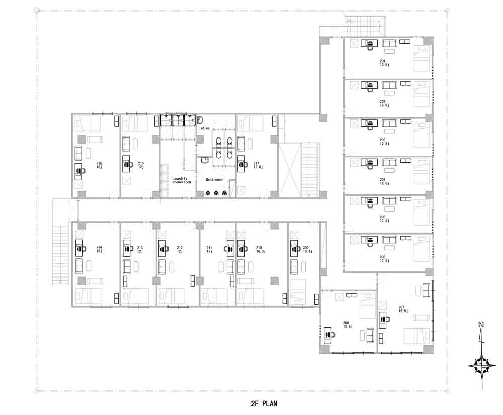 guesthouse sharehouse SOCIAL RESIDENCE URAWA floorplan2