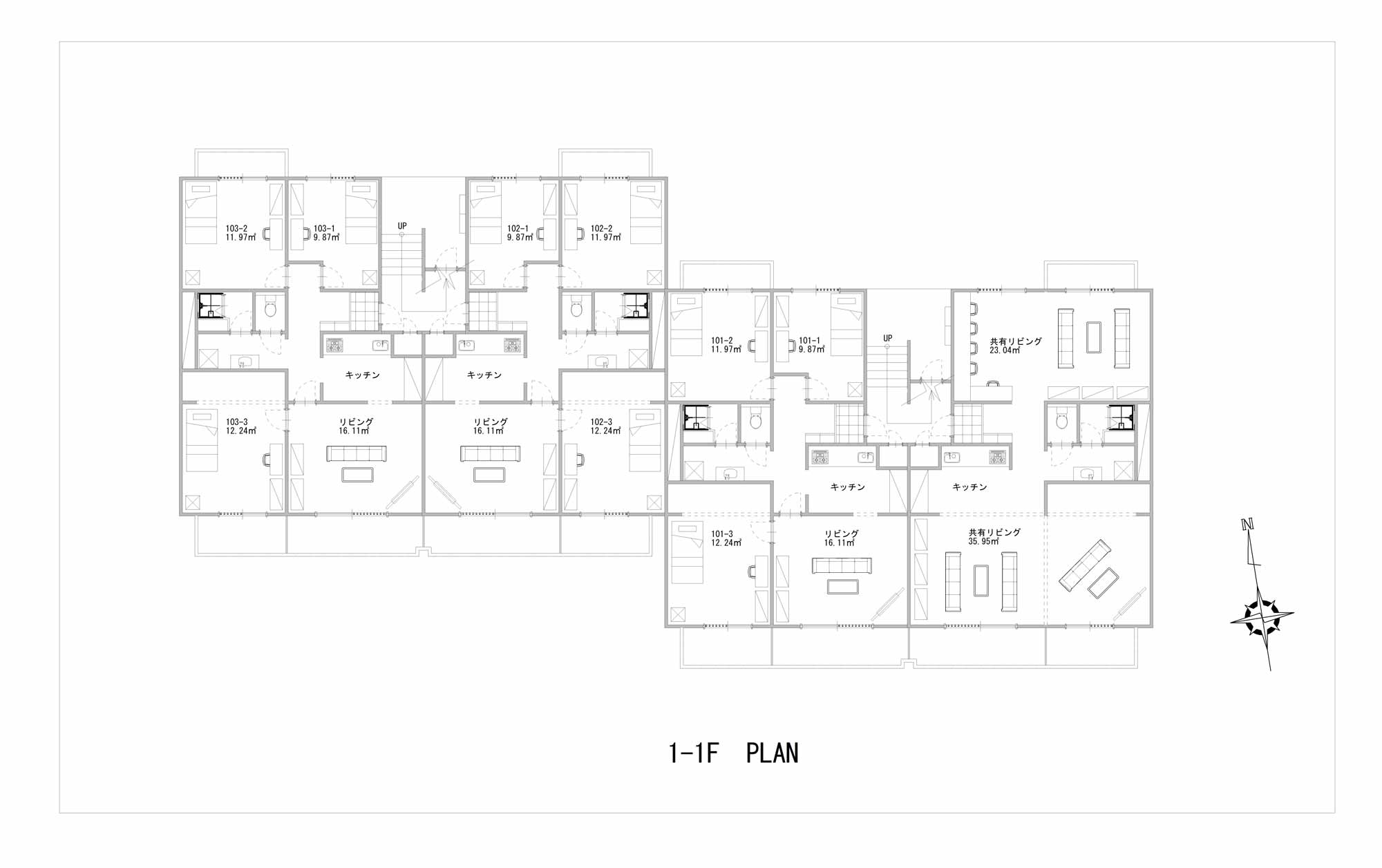 guesthouse sharehouse ガーデンタウン戸塚 floorplan1