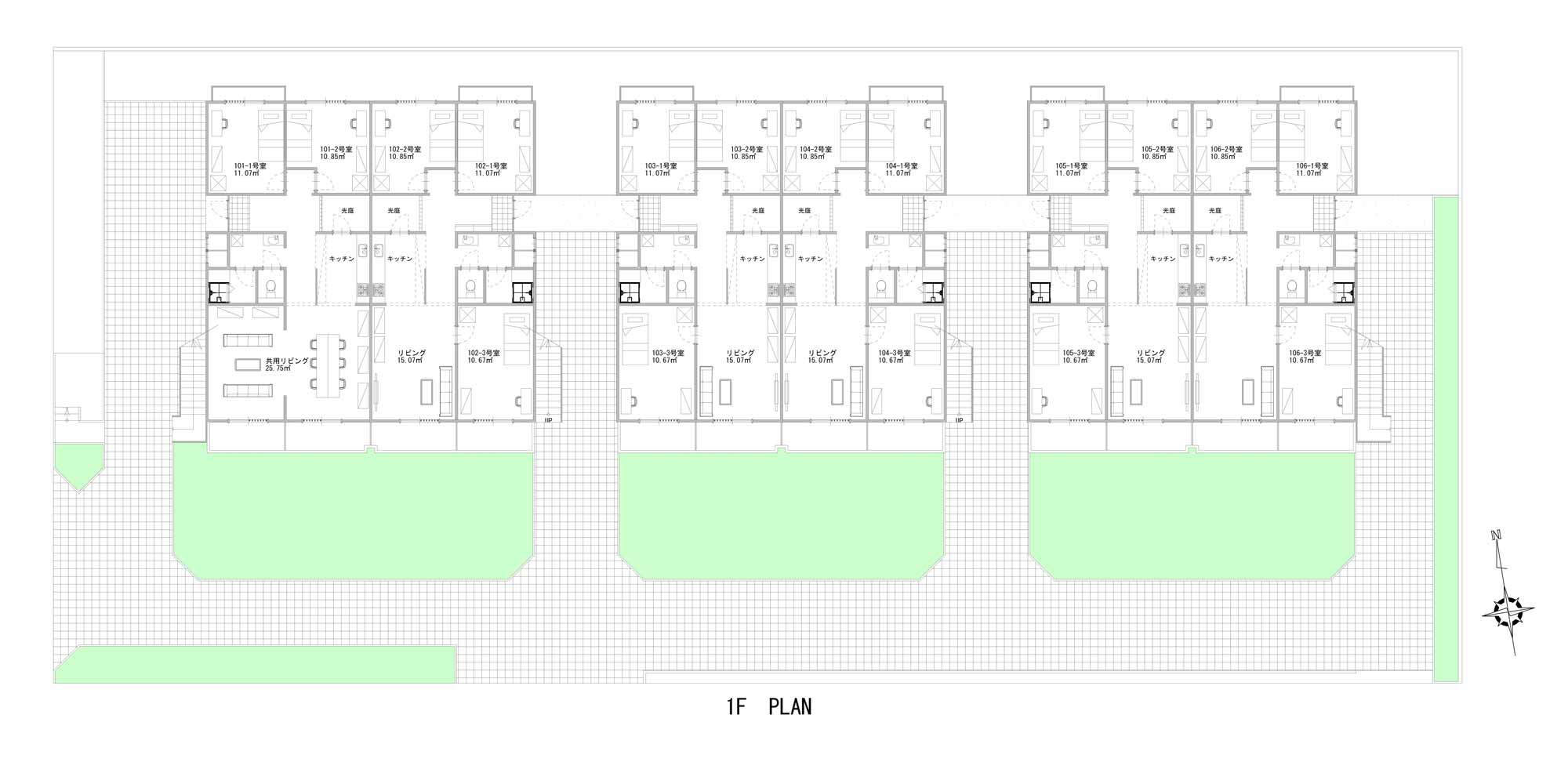 guesthouse sharehouse ガーデンテラス鴨居 floorplan1
