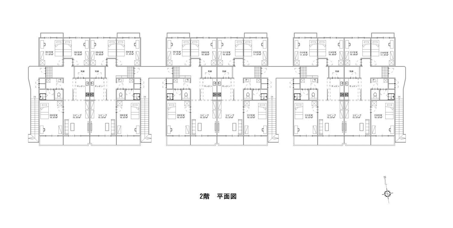 guesthouse sharehouse ガーデンテラス鴨居 floorplan2