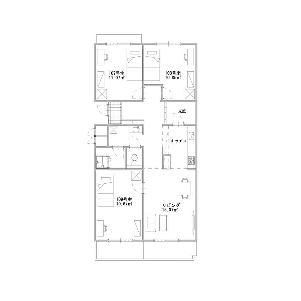 guesthouse sharehouse ガーデンテラス鴨居 floorplan3