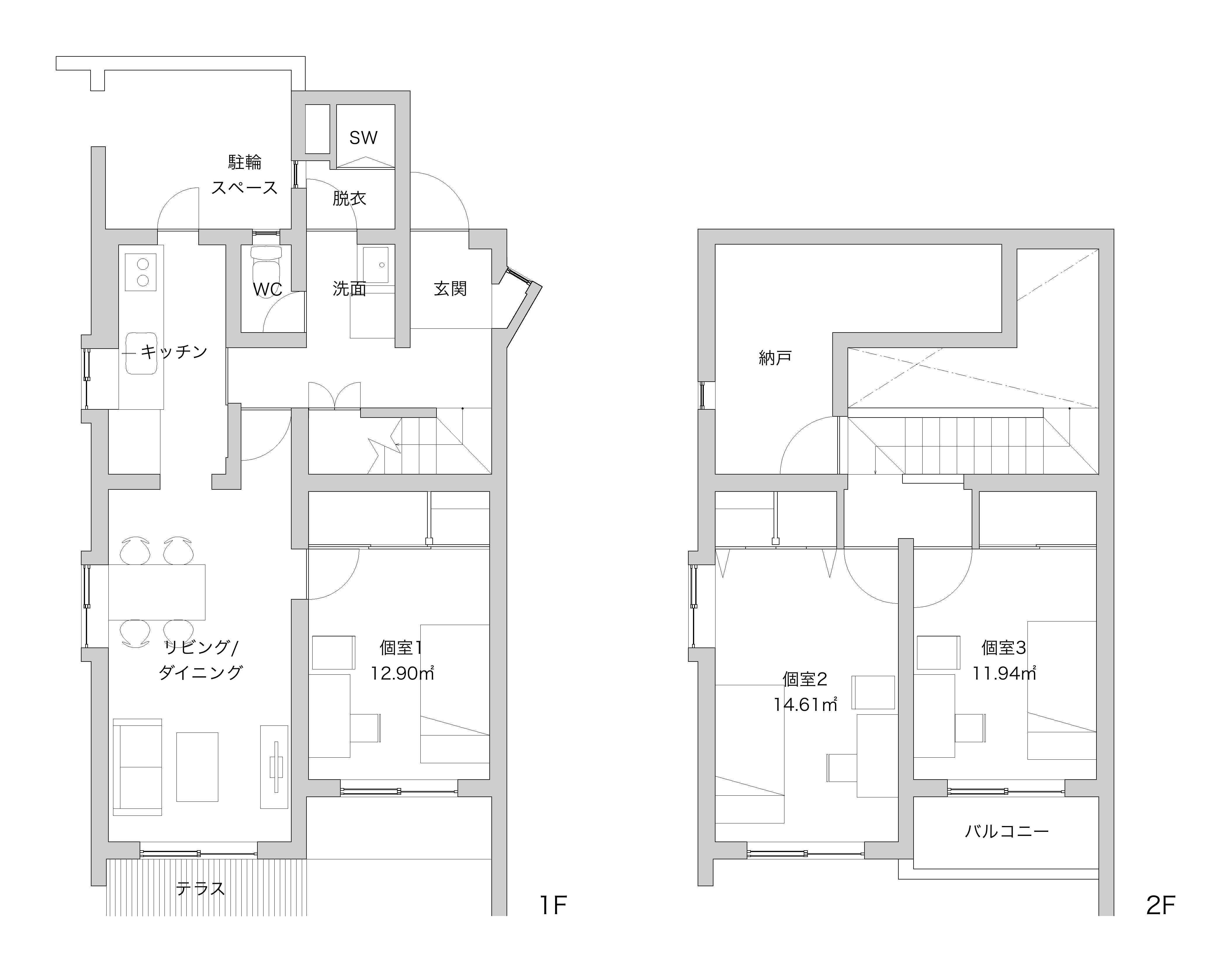 guesthouse sharehouse Garden 陽台 鷹之台 floorplan3