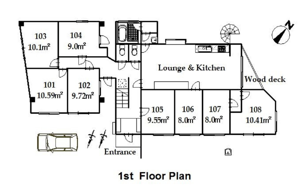 guesthouse sharehouse プレミア日野 floorplan1