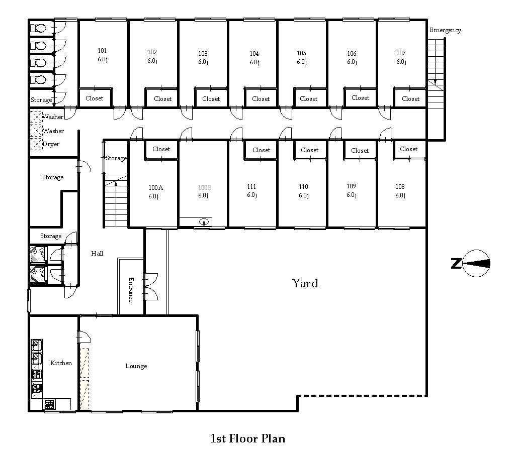 guesthouse sharehouse OAKHOUSE東小金井2 floorplan1