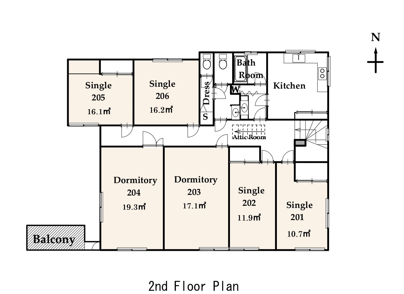 guesthouse sharehouse ファストルーム高円寺 floorplan2