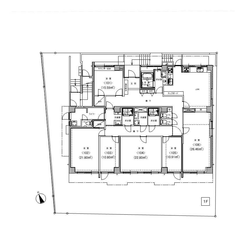 guesthouse sharehouse GRAN西麻布 floorplan1