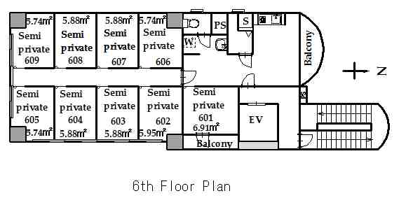 guesthouse sharehouse KAGURAZAKA FLAT floorplan2