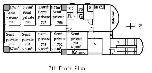 guesthouse sharehouse KAGURAZAKA FLAT floorplan3