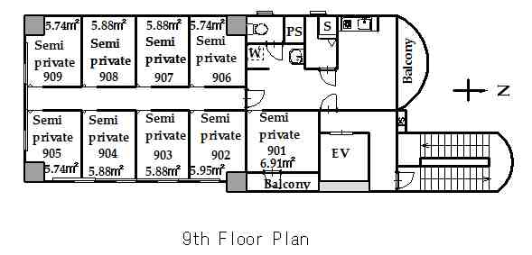 guesthouse sharehouse KAGURAZAKA FLAT floorplan5