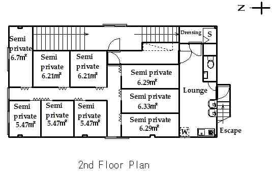 guesthouse sharehouse OAKHOUSE SHINKOIWA FLAT floorplan1