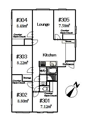 guesthouse sharehouse Premiere Shin-Koiwa floorplan2