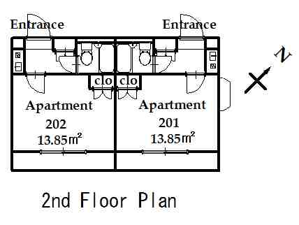 guesthouse sharehouse OAK APARTMENT NISHIDAI floorplan2