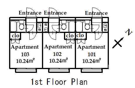 guesthouse sharehouse OAK APARTMENT NISHIDAI floorplan3