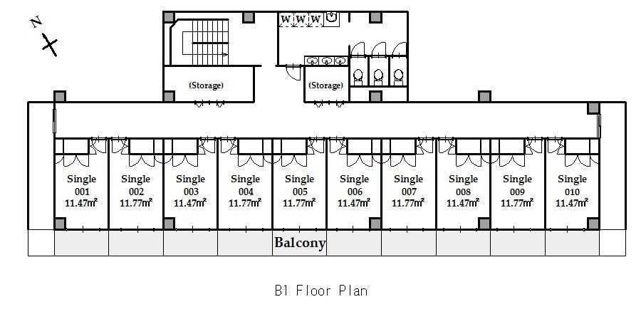 guesthouse sharehouse SOCIAL RESIDENCE CHOFU floorplan1