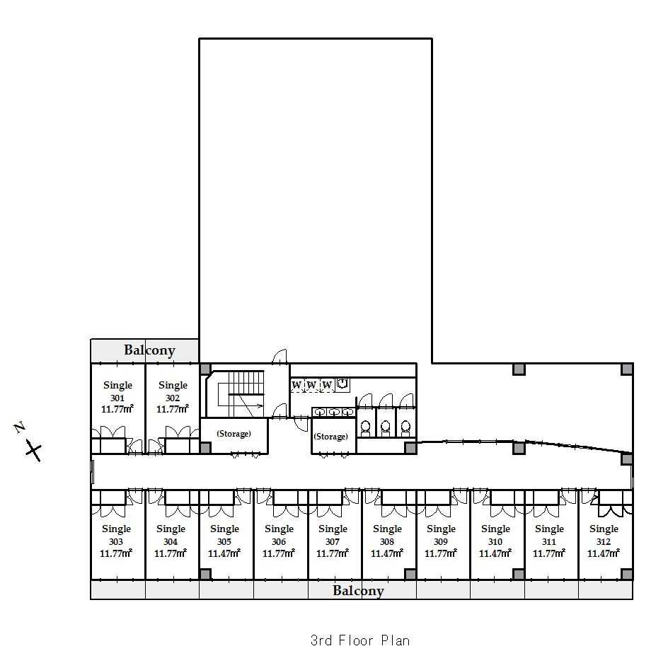 guesthouse sharehouse SOCIAL RESIDENCE CHOFU floorplan4