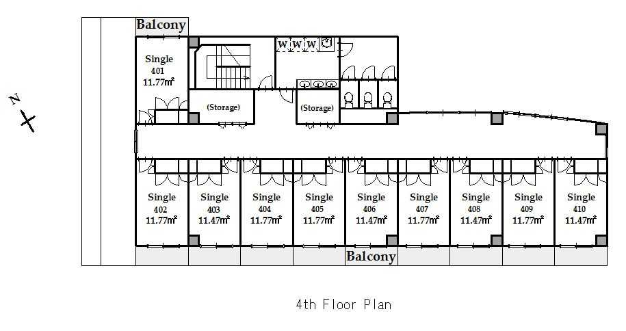 guesthouse sharehouse SOCIAL RESIDENCE CHOFU floorplan5