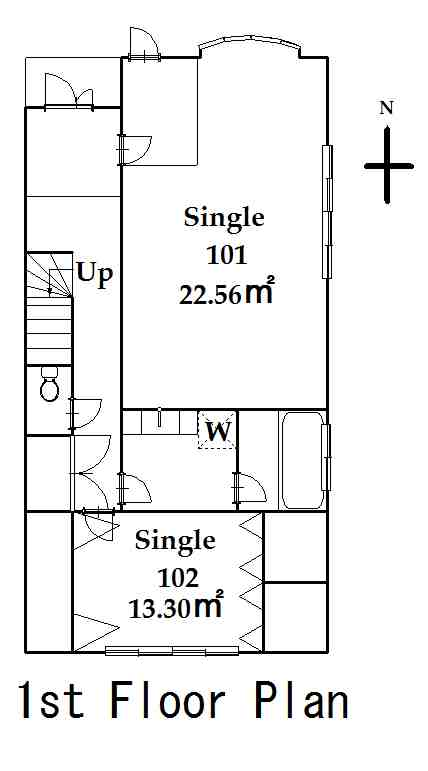 guesthouse sharehouse FLORA HANEDA AIRPORT floorplan1