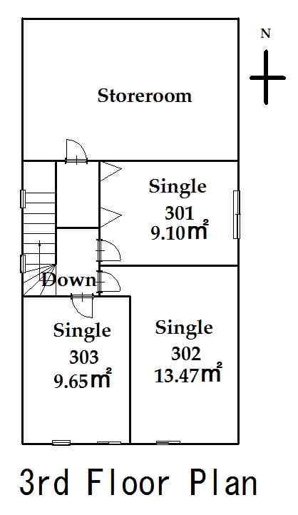 guesthouse sharehouse FLORA HANEDA AIRPORT floorplan3