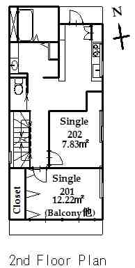 guesthouse sharehouse プレミアお花茶屋 floorplan2