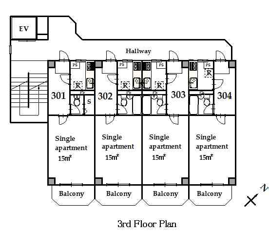 guesthouse sharehouse 그랑 나카노 floorplan3