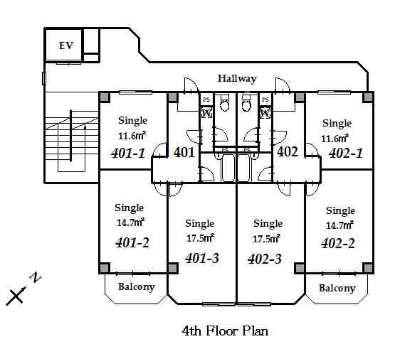 guesthouse sharehouse 그랑 나카노 floorplan4