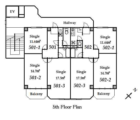 guesthouse sharehouse 그랑 나카노 floorplan5