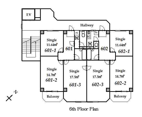 guesthouse sharehouse 그랑 나카노 floorplan6