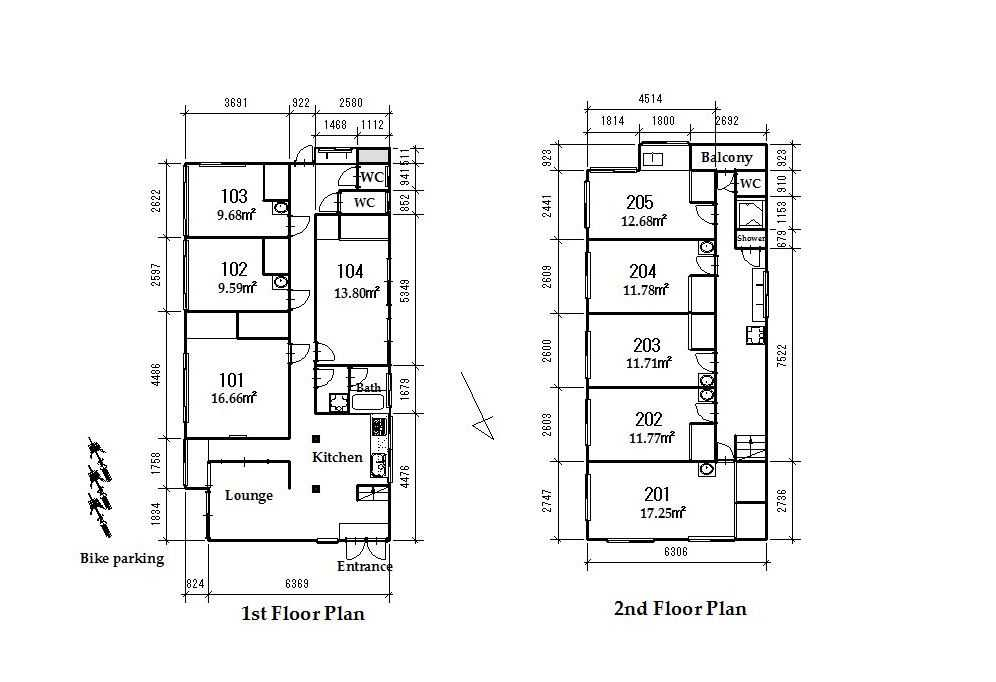guesthouse sharehouse OAKHOUSE UENO KITA floorplan1