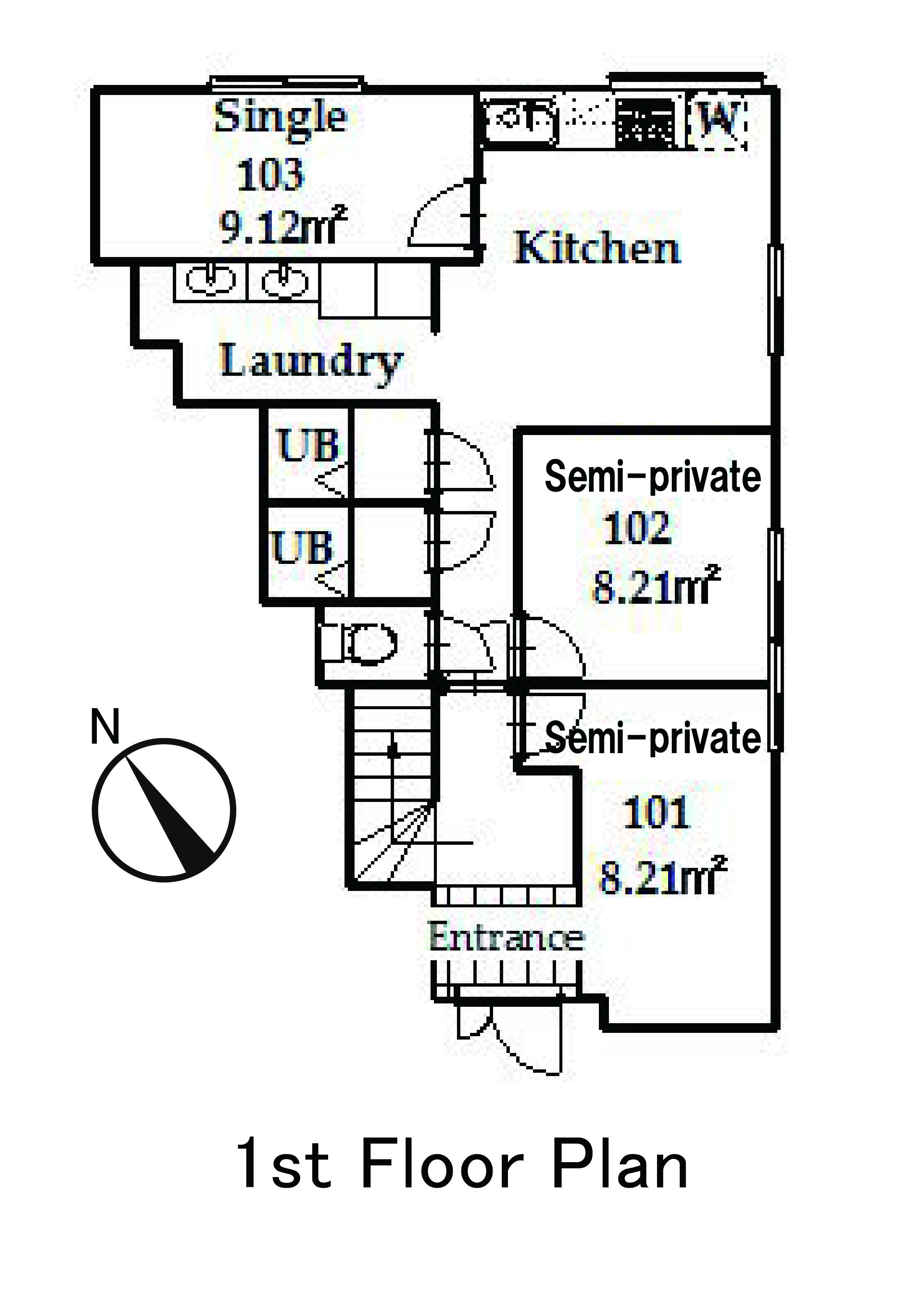 guesthouse sharehouse OAKHOUSE品川旗之台 floorplan1