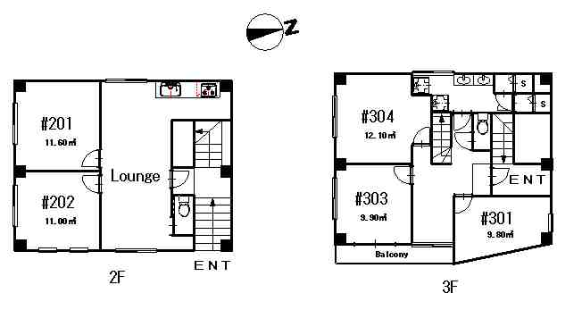 guesthouse sharehouse Premiere大島 floorplan1