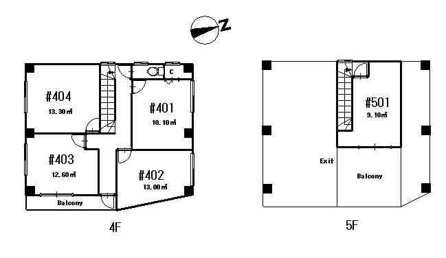 guesthouse sharehouse Premiere大島 floorplan2