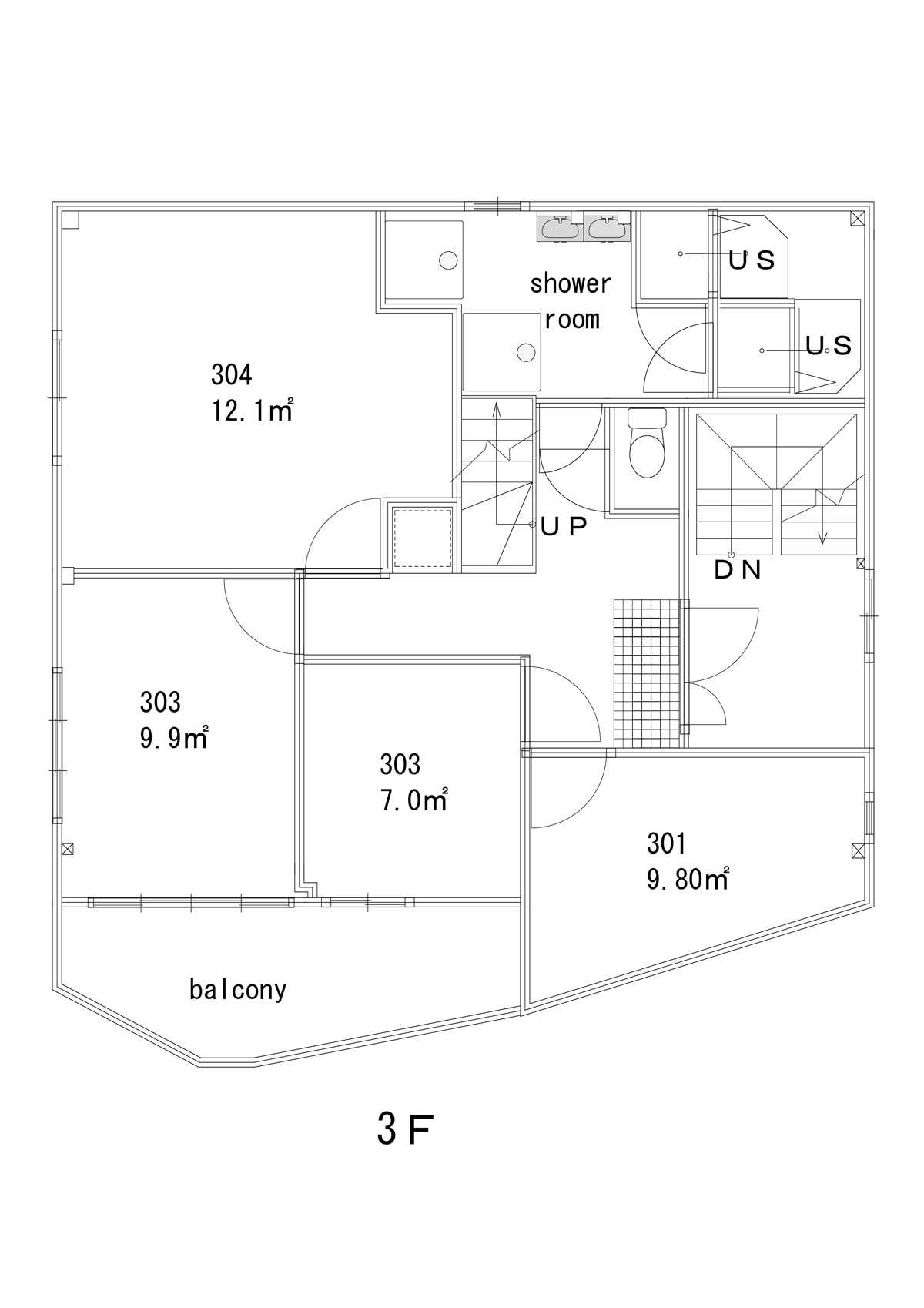 guesthouse sharehouse Premiere大島 floorplan3