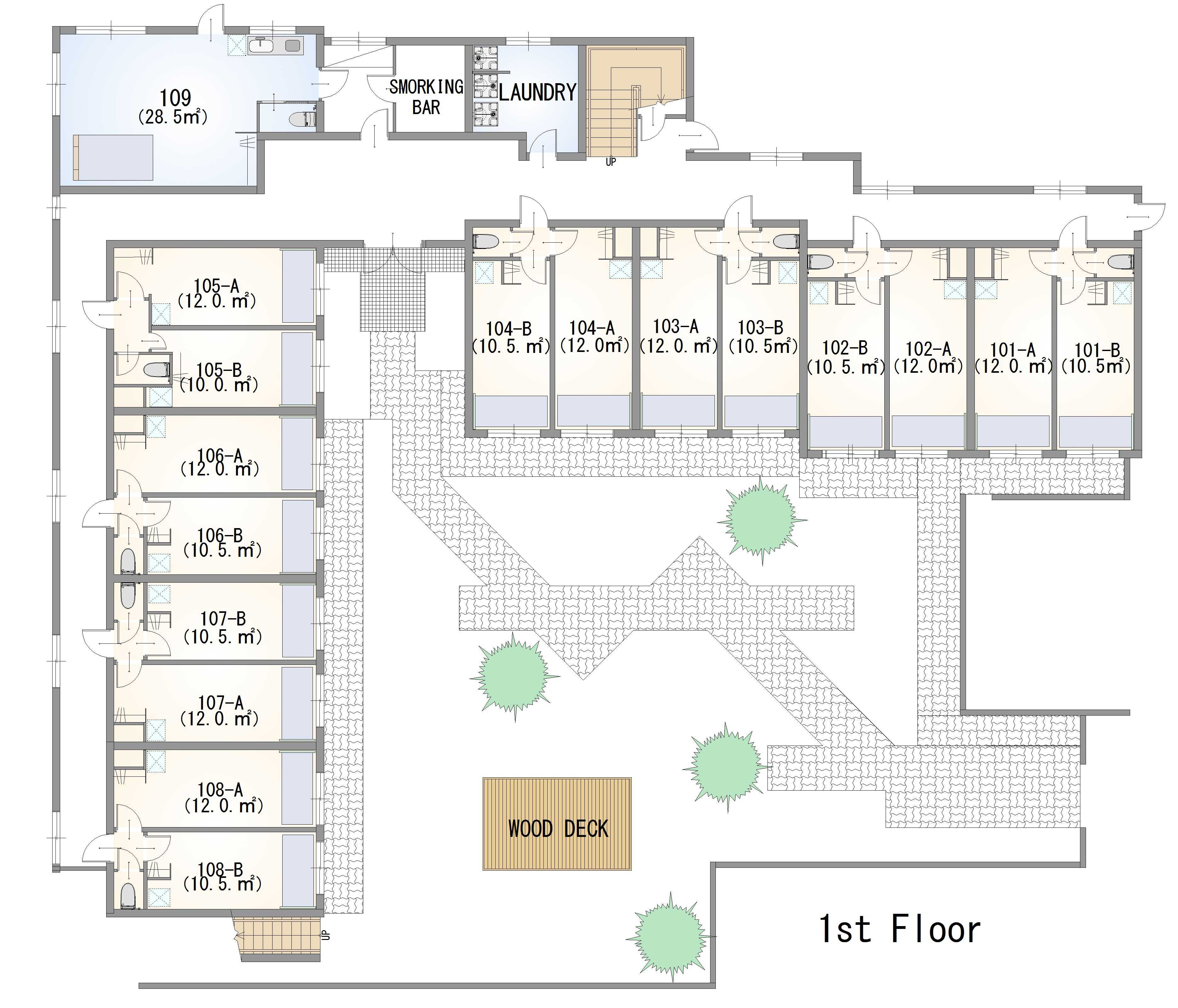guesthouse sharehouse ガーデンテラス西武柳沢 floorplan1