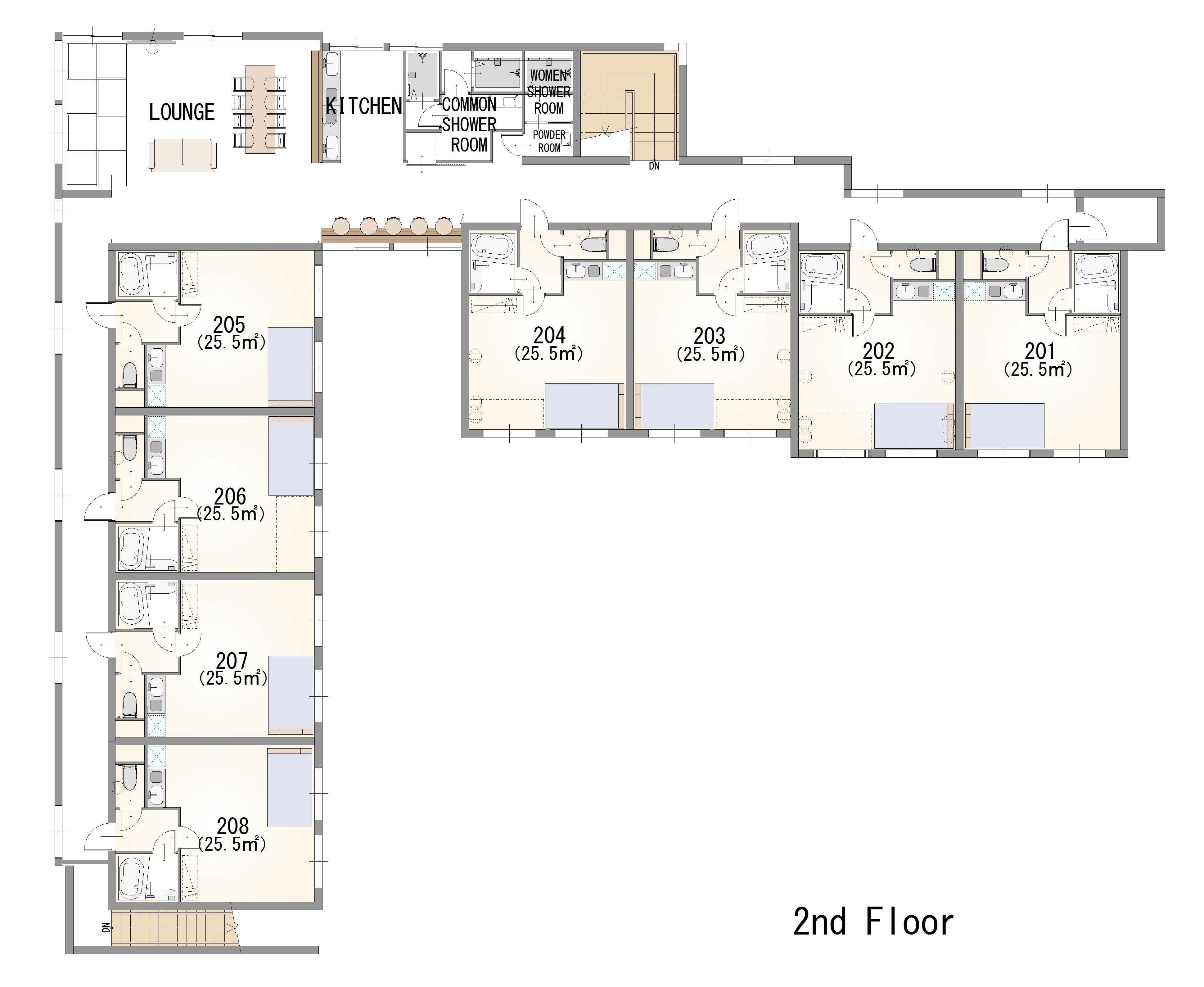 guesthouse sharehouse ガーデンテラス西武柳沢 floorplan2