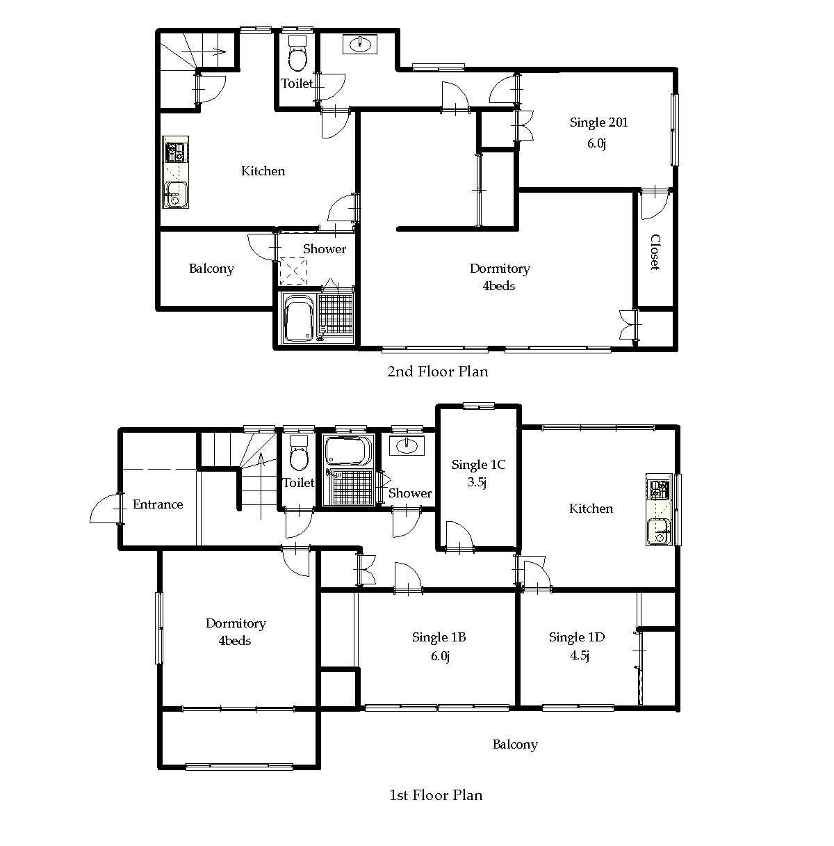 guesthouse sharehouse NAKANO VILLAGE floorplan1