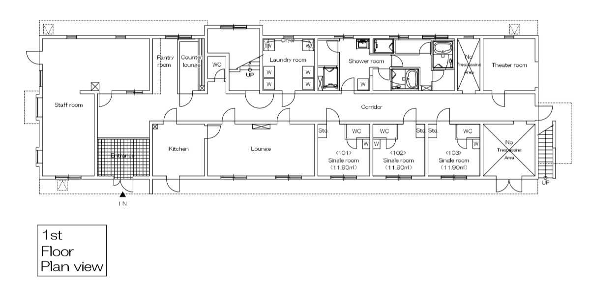 guesthouse sharehouse フローラ横浜星川 floorplan1