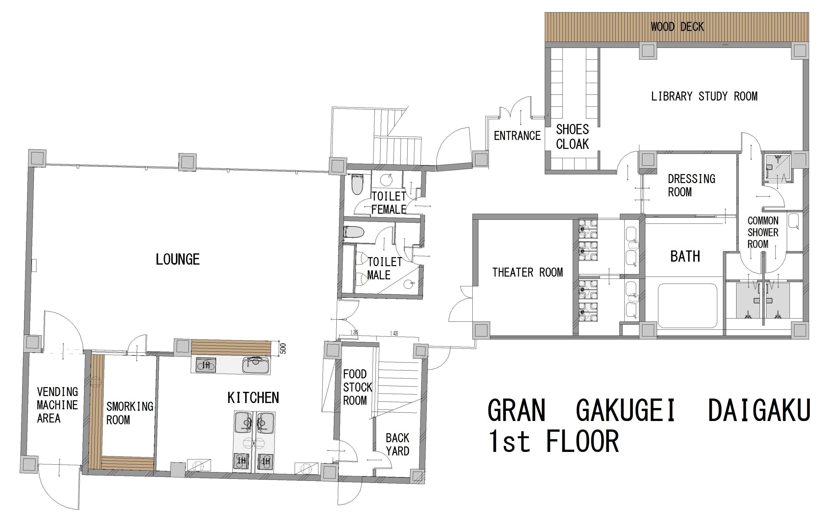 guesthouse sharehouse GRAN學藝大學 floorplan1